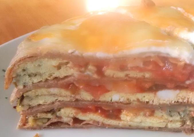 Tortilla Omelette Stack