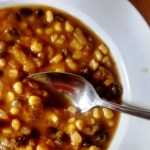 Black Bean, Corn and Pumpkin Soup