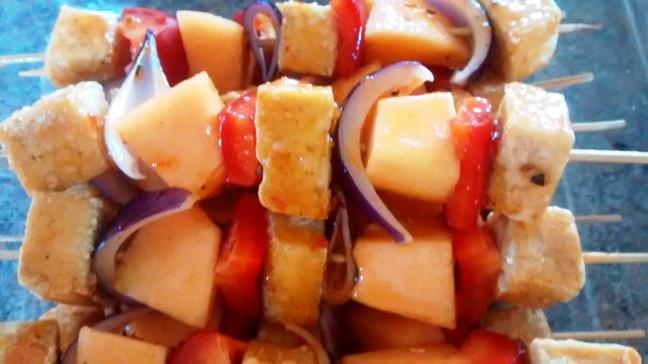 Sweet Chili Tofu Kebabs