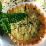 Zucchini Tarts with Feta and Mint