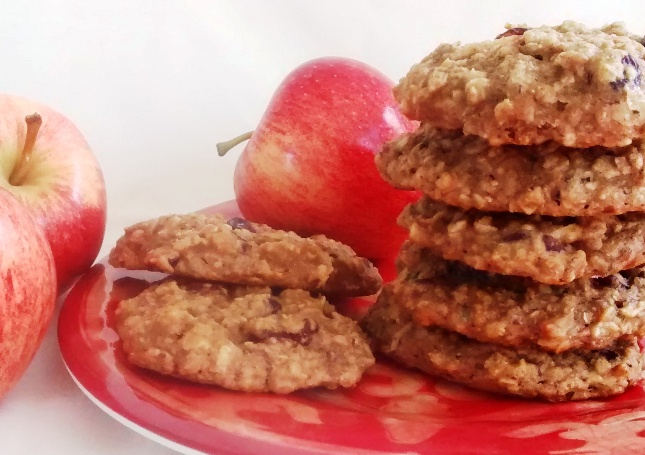 Vegan Double Apple Drop Cookies