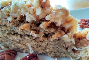 Banana Cake with Coconut Caramel Topping
