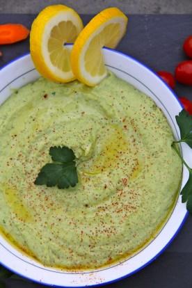Spring Pea Hummus © KETMALA'S KITCHEN 2012-13