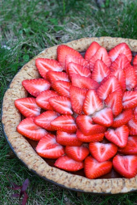 Strawberry Chocolate Tart @ketmalaskitchen 2015