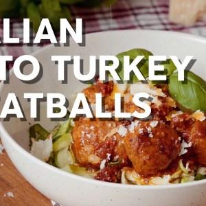 Italian keto turkey meatballs