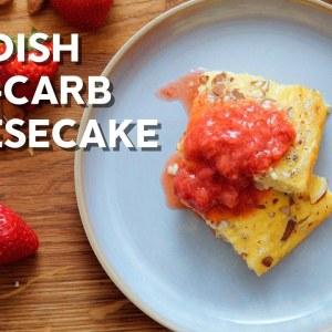 Swedish low carb cheesecake