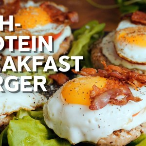 High protein breakfast burger