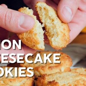 Keto lemon cheesecake cookies