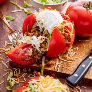 Keto Taco Tomatoes