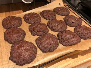 Esspresso choco chip cookies
