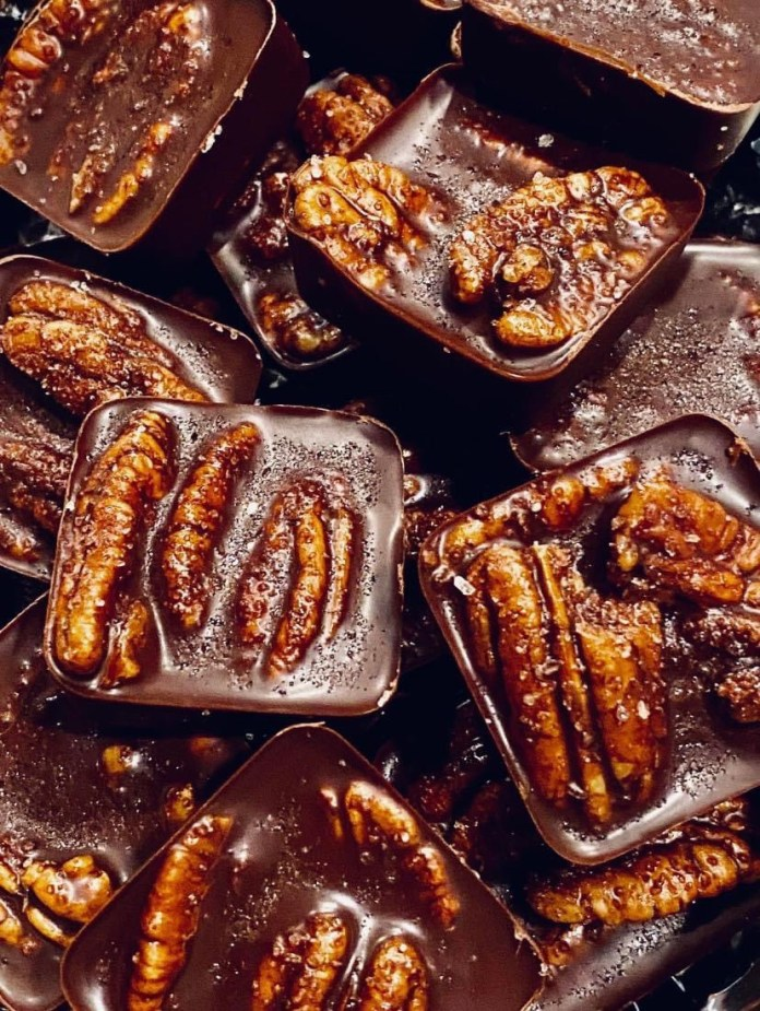 Dark Chocolate Salted Pecan Fat Bombs