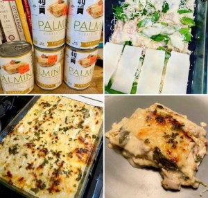 Keto Instant Pot Chicken Alfredo Palmini Lasagna!