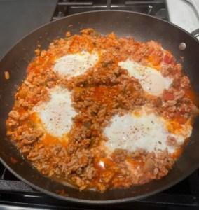 Breakfast for Dinner! Turkey Eggs Salsa