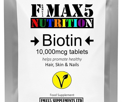 Biotin 10,000MCG by FMax5 Supplements (90 Tablets) Price in Pakistan