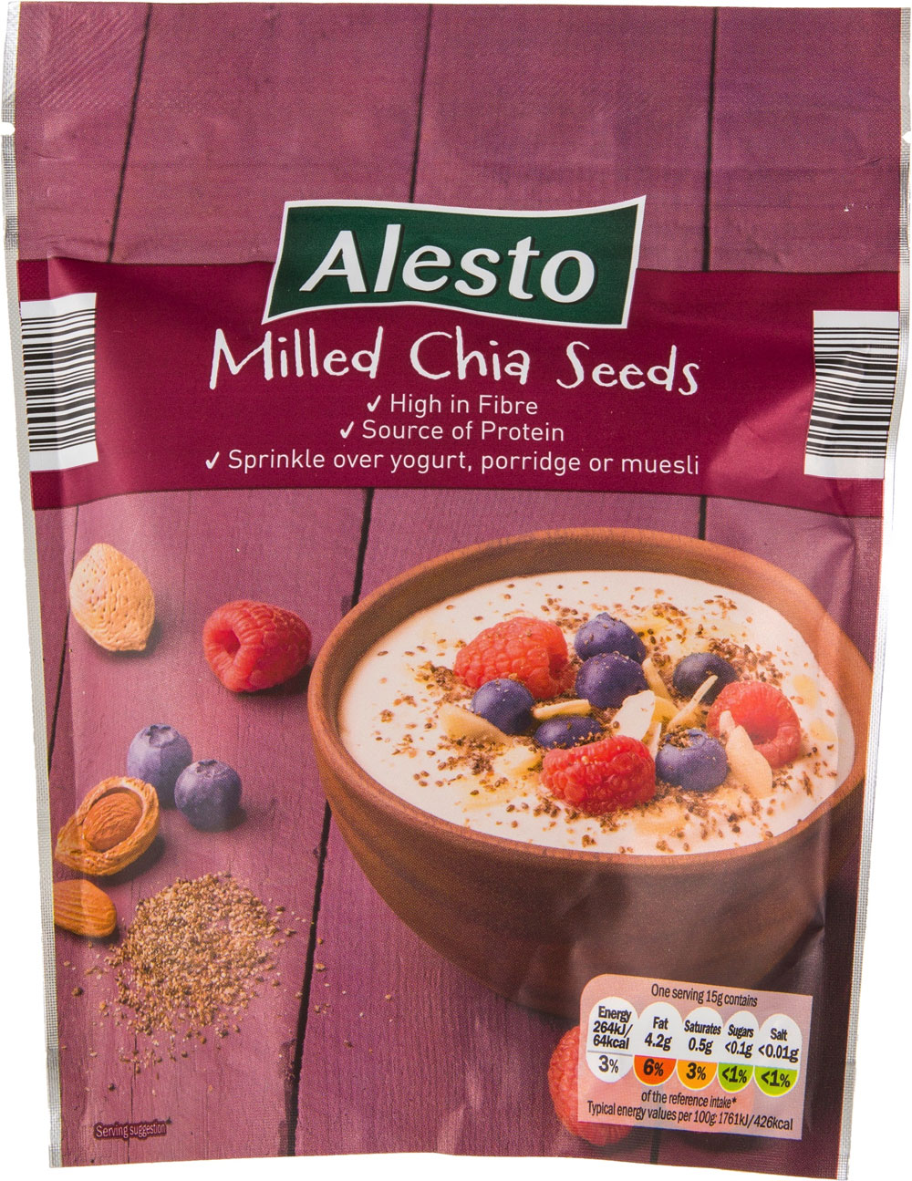 Alesto Milled Chia Seeds 200gm Price in Pakistan