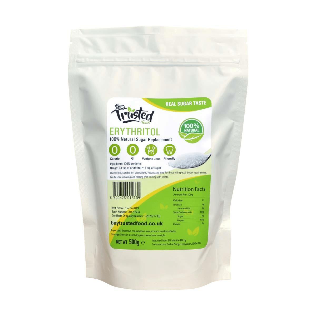 Erythritol 500g – ZERO Calorie 100% Natural Sugar Replacement Price in Pakistan | Keto