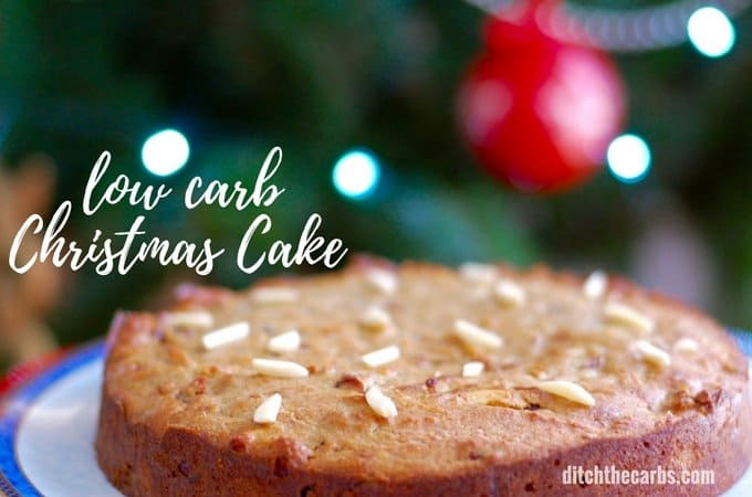 Easy low-carb Christmas cake