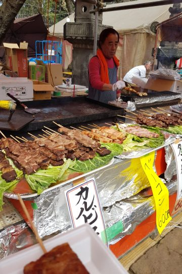 BBQ Skewer stand in Japan