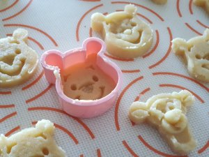 Cookie cutter in the shape of Winnie the Pooh and Tigger