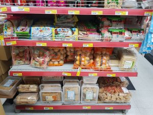 Soy and Gluten products in Asian grocery store