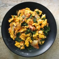Kimchi Scramble For a Twist on the Keto Breakfast