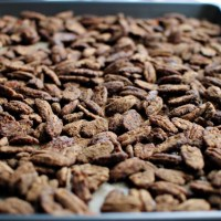 Cocoa Candied Pecans