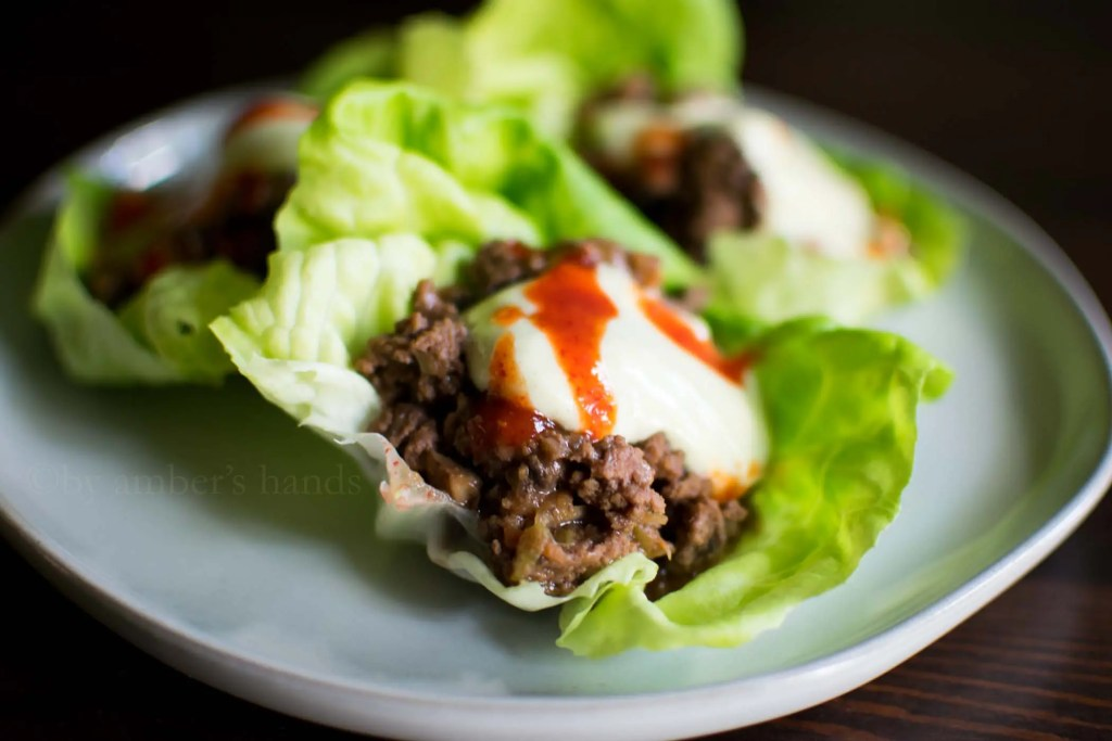 Asian Lettuce Wraps with Ginger Peanut Sauce - Ground Beef Recipes -keto cake walk-