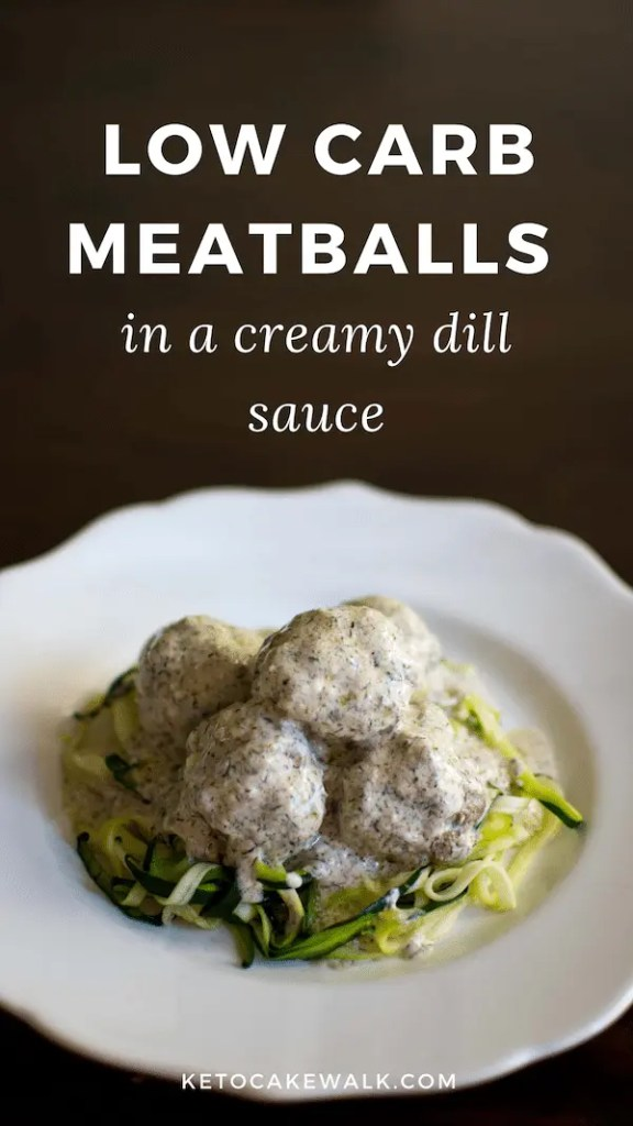 Can't wait to try these low carb meatballs! They look so easy and delicious! #keto #lowcarb #easy #dinner #meatballs #dill #creamsauce #glutenfree #grainfree