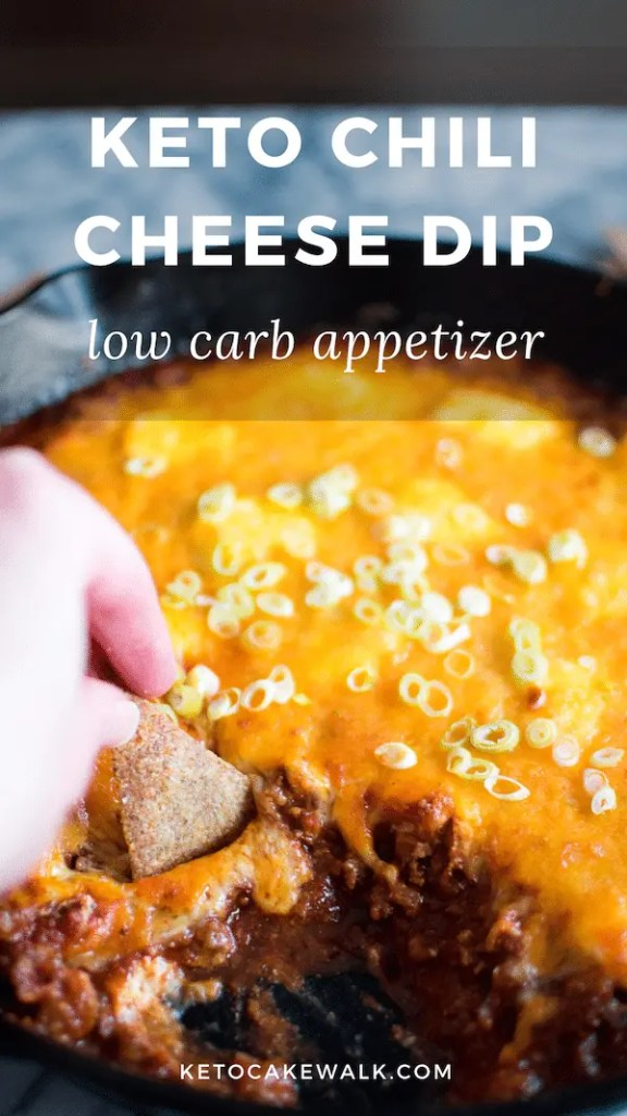 This keto chili cheese dip is as delicious as it is easy! Super customizable to your tastes, this is the perfect party appetizer for your game day celebration! #keto #lowcarb #chili #cheese #dip #party #appetizer #easy #glutenfree #grainfree