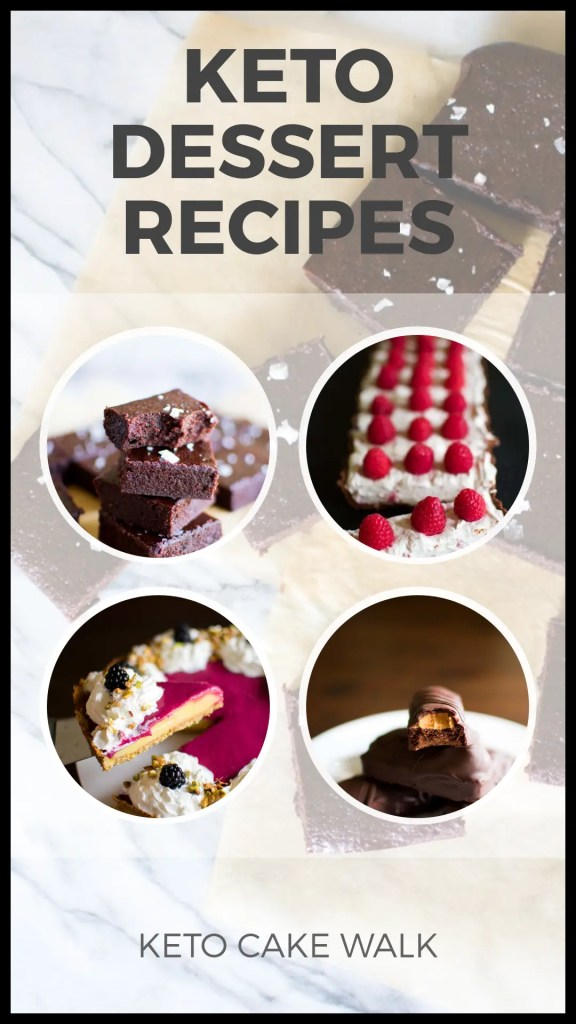 Find tons of keto dessert recipes here, on a continually updated page! From brownies to pies to cheesecake to candy bars, you'll find it here! #keto #desserts #recipes #treats #sugarfree #glutenfree #grainfree #lowcarb #brownies #cheesecake #tarts #candy #pies