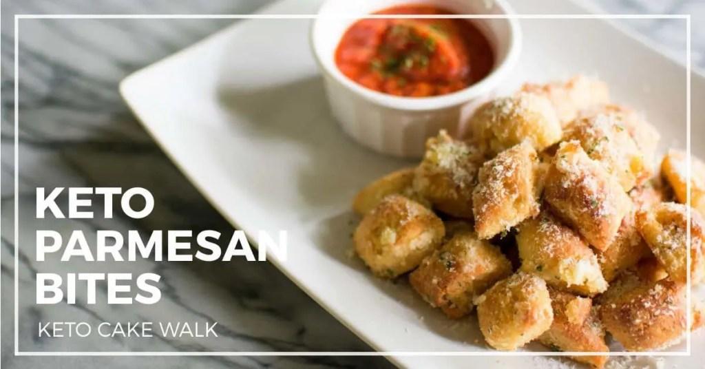 Keto Parmesan Bread Bites -keto cake walk-