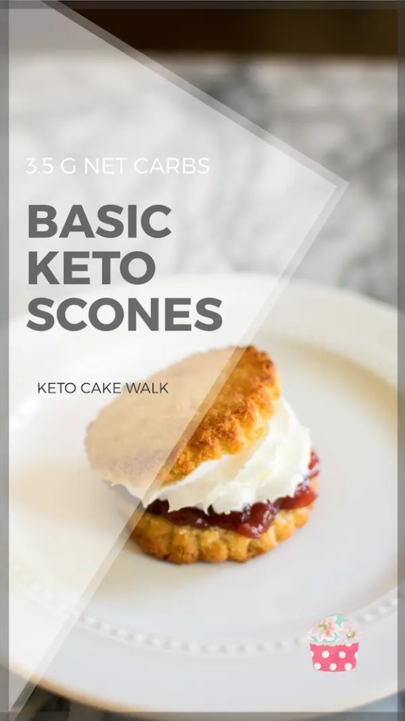 Classic keto scones that you can top with jam and cream, or mix in your favorite flavors to create something new! #lowcarb #keto #scones #easy #breakfast #brunch #glutenfree #grainfree #sugarfree