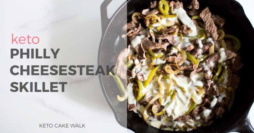 Keto Philly Cheesesteak -keto cake walk-