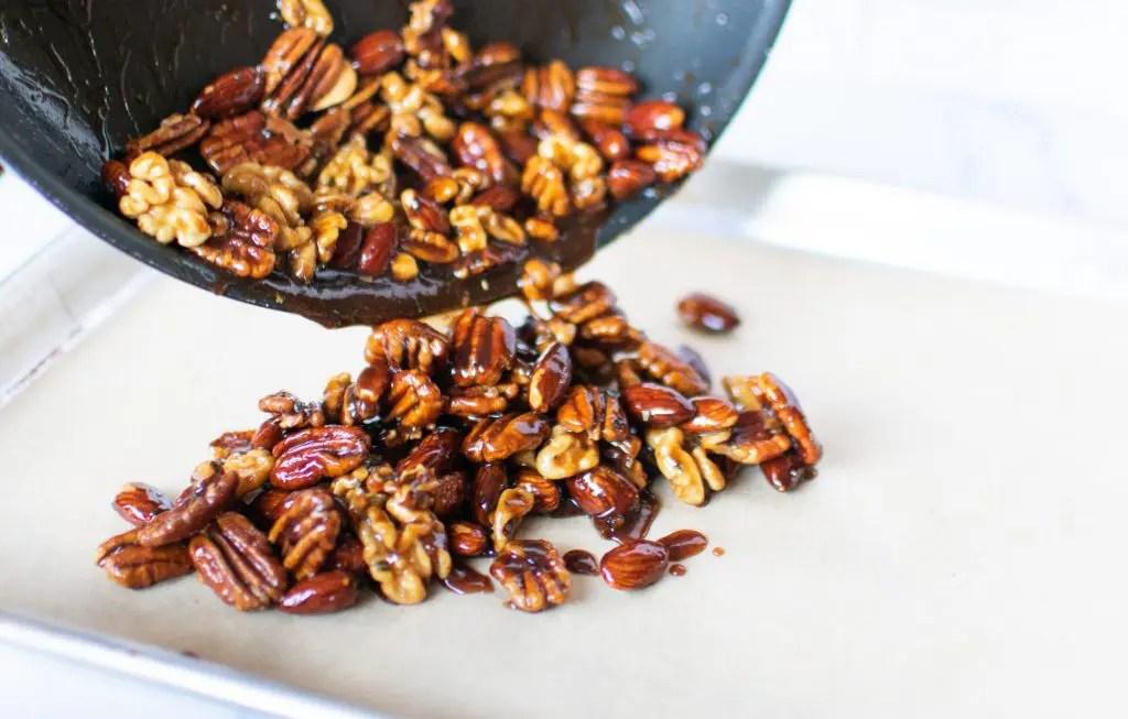 Keto Rosemary Candied Nuts -keto cake walk-