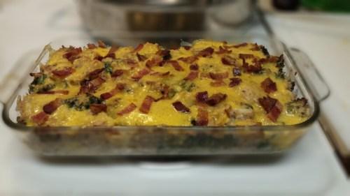 Cheesy Tuna, Broccoli and Cauliflower Casserole