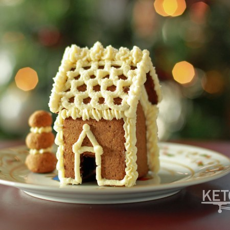 Mini Keto Gingerbread House