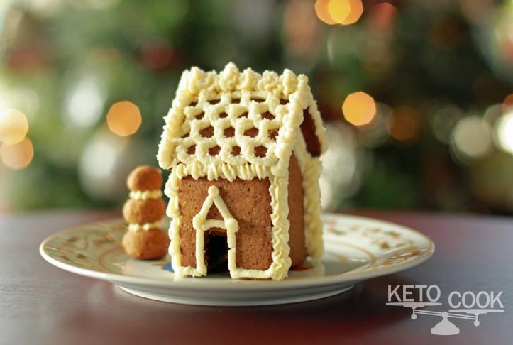 Mini Keto Gingerbread House