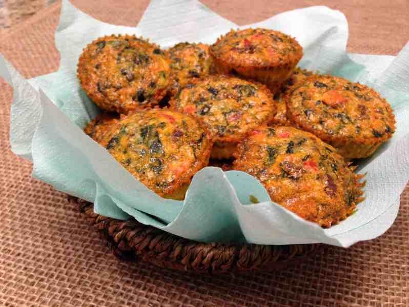 chorizo pepper egg muffin cups