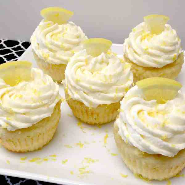 Lemon Cupcakes with Creamy Lemon Frosting - Keto, Low Carb & Gluten Free
