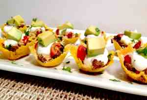 mini taco bites keto and low carb