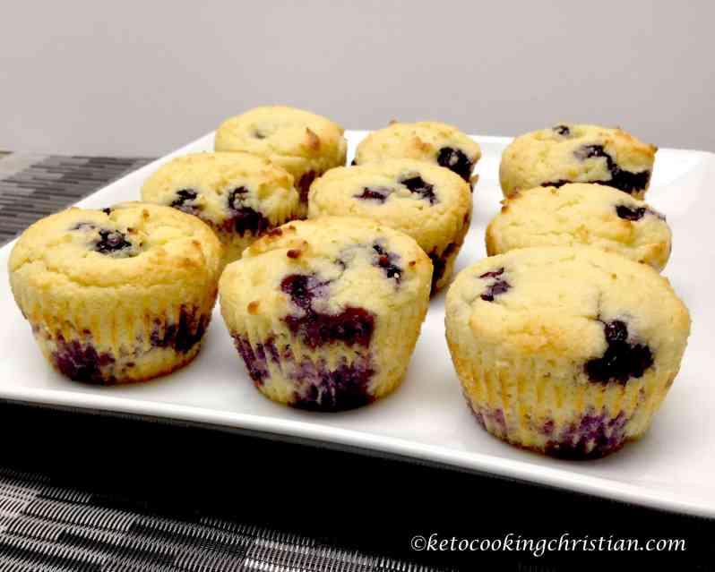 blueberry lemon muffins keto low carb gluten free