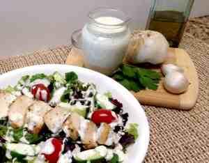 Creamy Garlic Italian Dressing & Dip - Keto and Low Carb