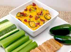 Jalapeño Popper Chicken Dip - Keto and Low Carb