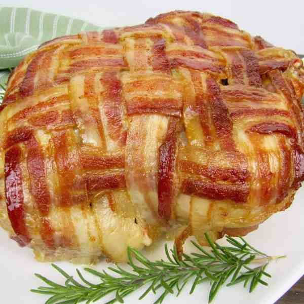 Bacon Wrapped Whole Chicken - Keto and Low Carb