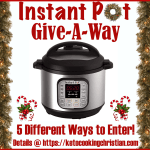 Instant Pot give-a-way Keto Cooking Christian