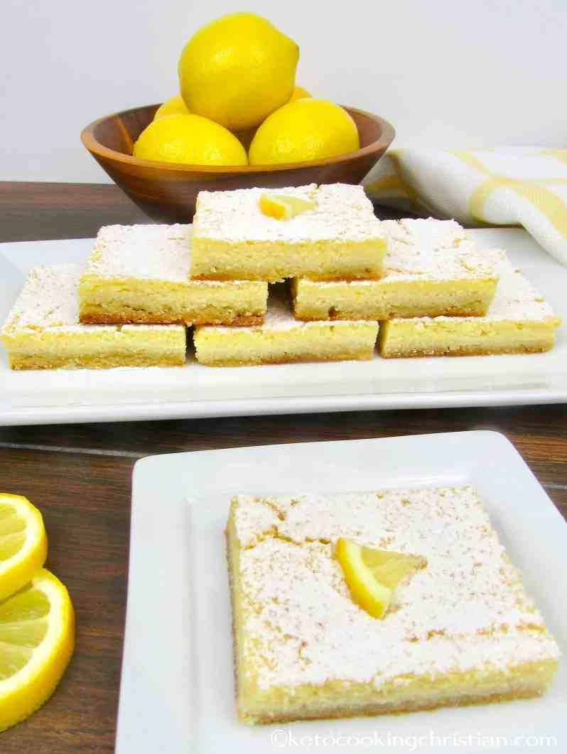 Lemon Bars - Keto, Low Carb & Gluten Free