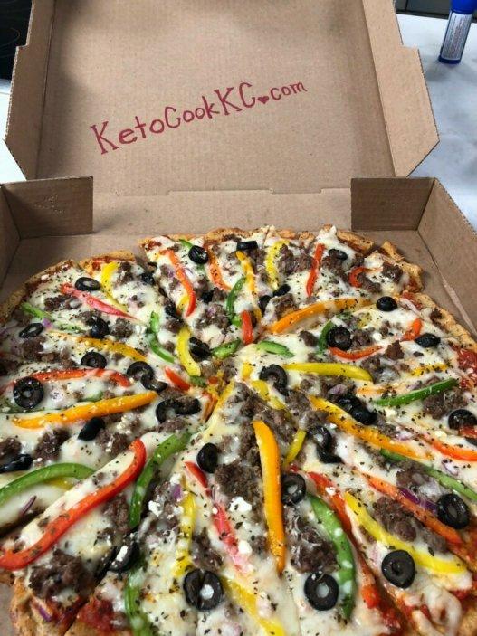 Fathead Keto Pizza from KetoCookKC