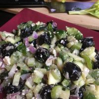 Black Olive Zucchini Salad Keto Recipe