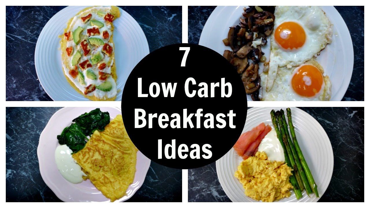 Four Delicious Low Carb Breakfasts