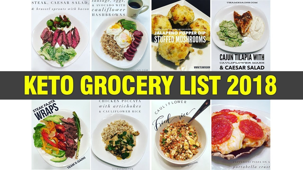 KETO BEGINNER GROCERY LIST